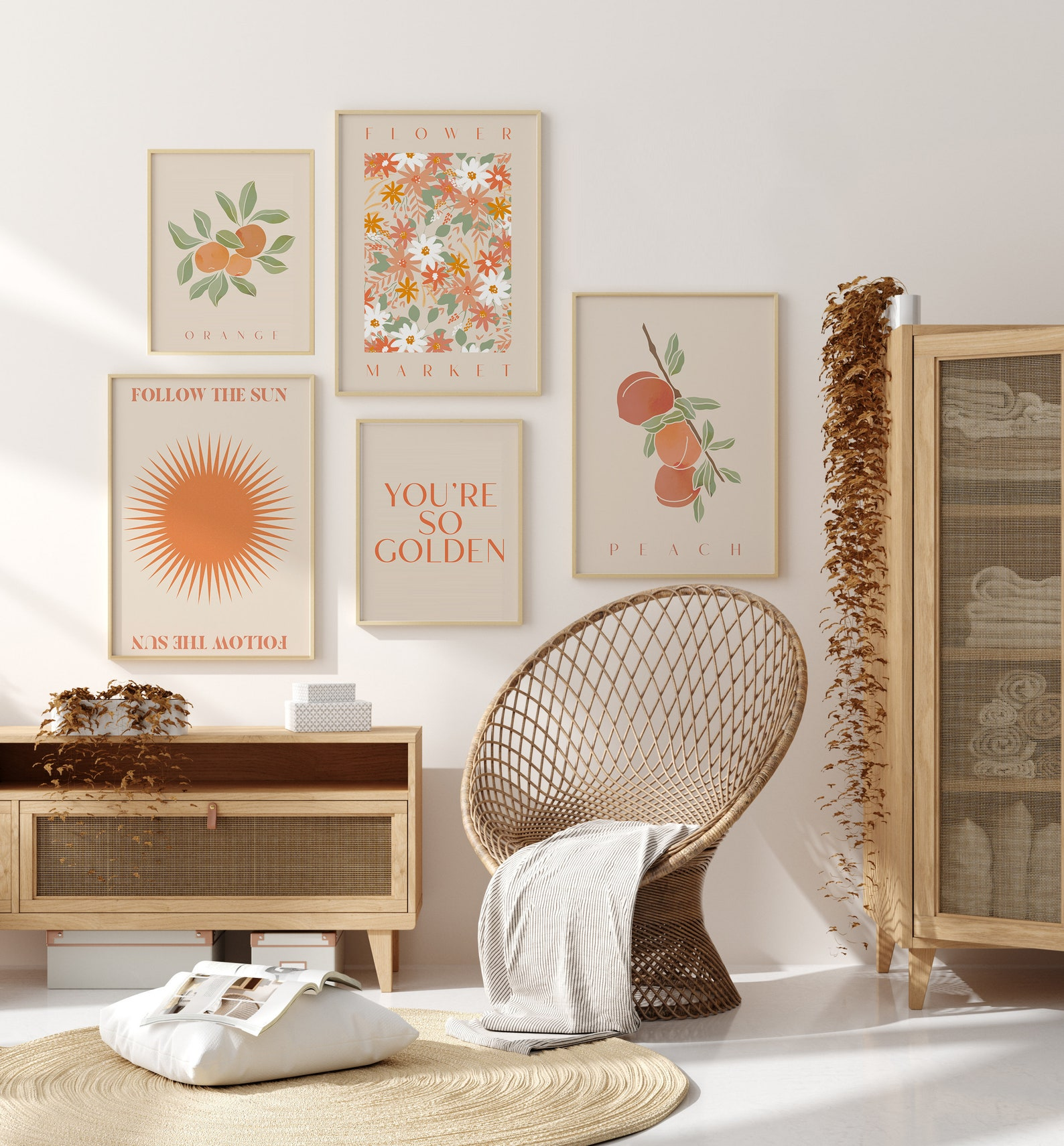 A selection of prints and gift ideas available at Peach and Home